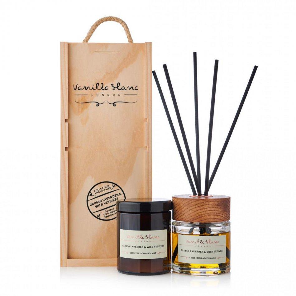 Vanilla Blanc Gift Set - Grosso Lavender & Wild Vetivert